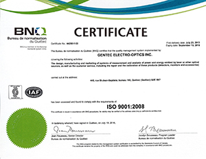 Download our ISO Certificate