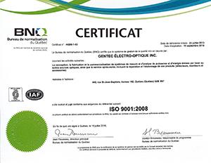 Téléchargez notre certificat ISO