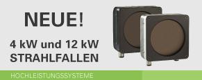 Neue 4 kW- und 12 kW-Strahlfallen
