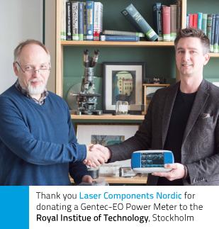 Laser Components Nordic donates a Gentec-EO Power Meter